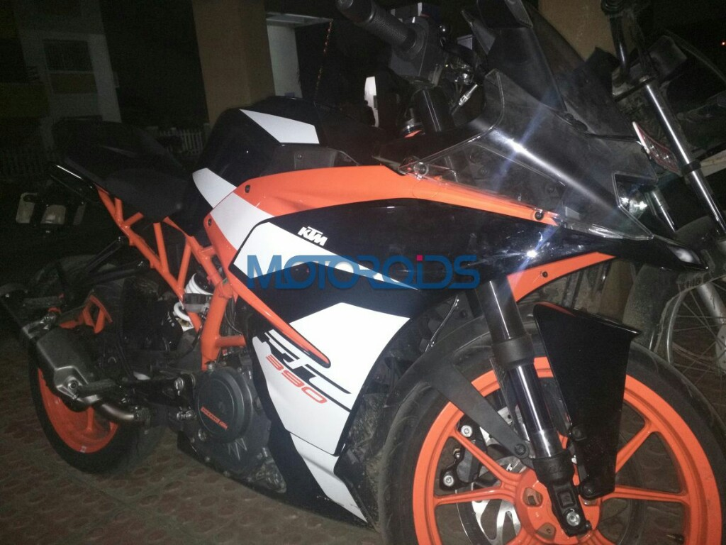 2018 KTM RC 390 Spotted