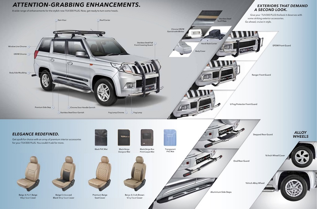 2018 Mahindra TUV300 Plus Accessories