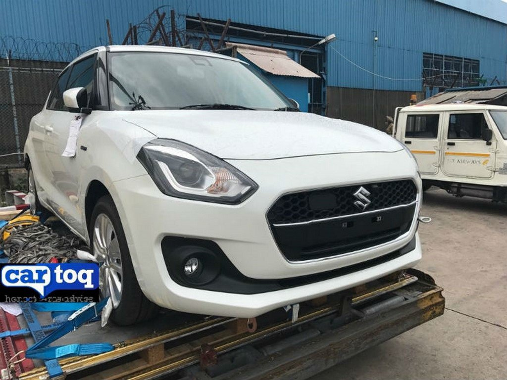 2018 Maruti Swift Hybrid Front Spotted
