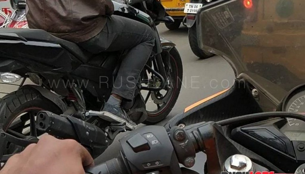 2018 TVS Apache 160 Side Profile Spied