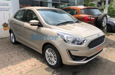 Ford Aspire Facelift Spied Ahead Of October 4 Launch