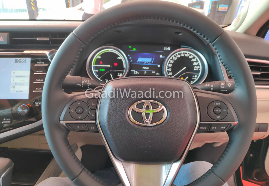 2019 Toyota Camry Hybrid Steering Wheel Spied Undisguised