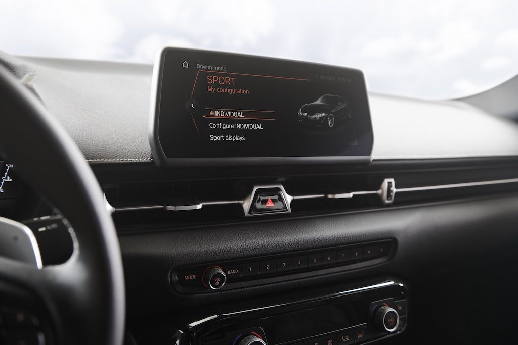 2019 Toyota Supra Infotainment Display