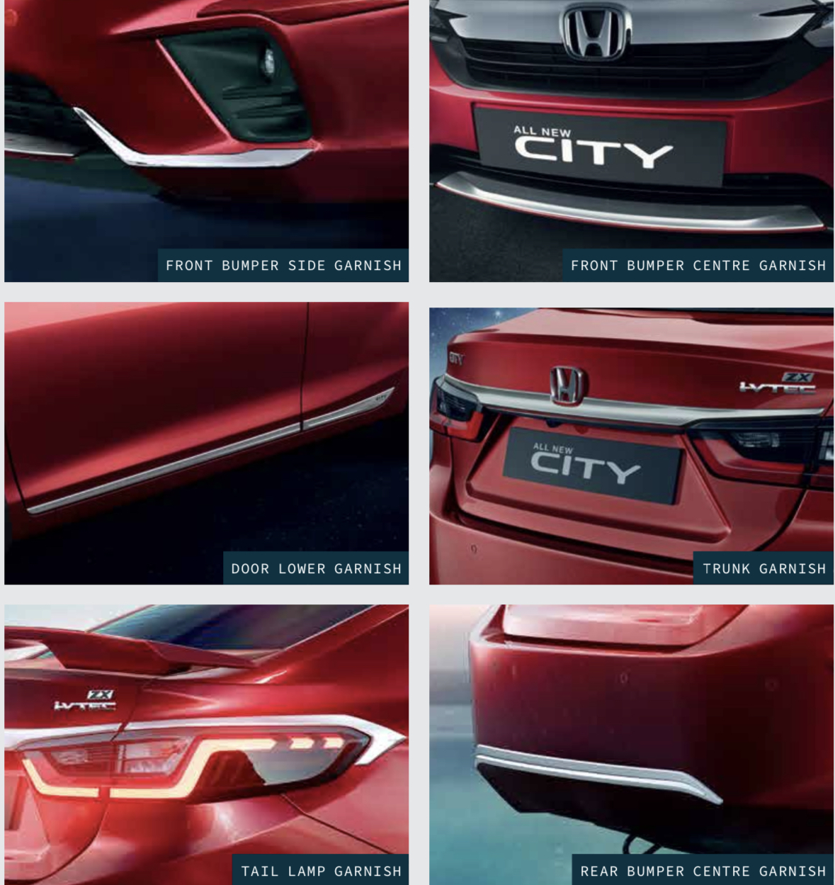 2020 Honda City Chrome Garnish