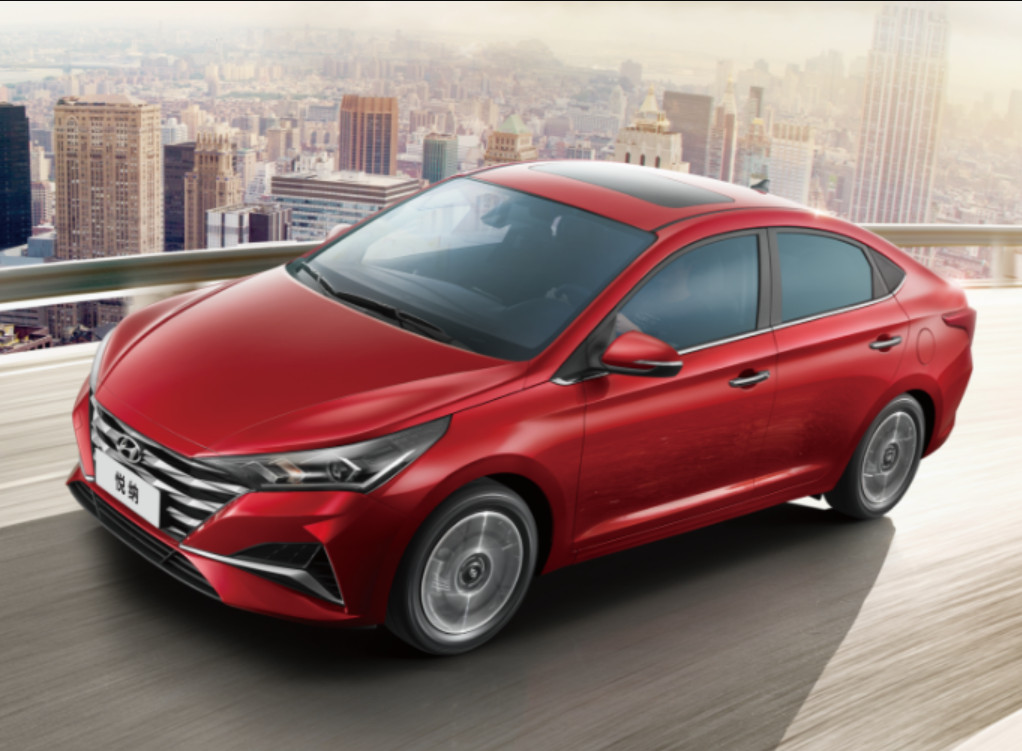 2020 Hyundai Verna China Top View