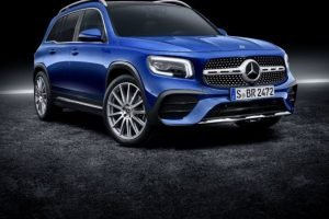 2020 Mercedes GLB Side Blue