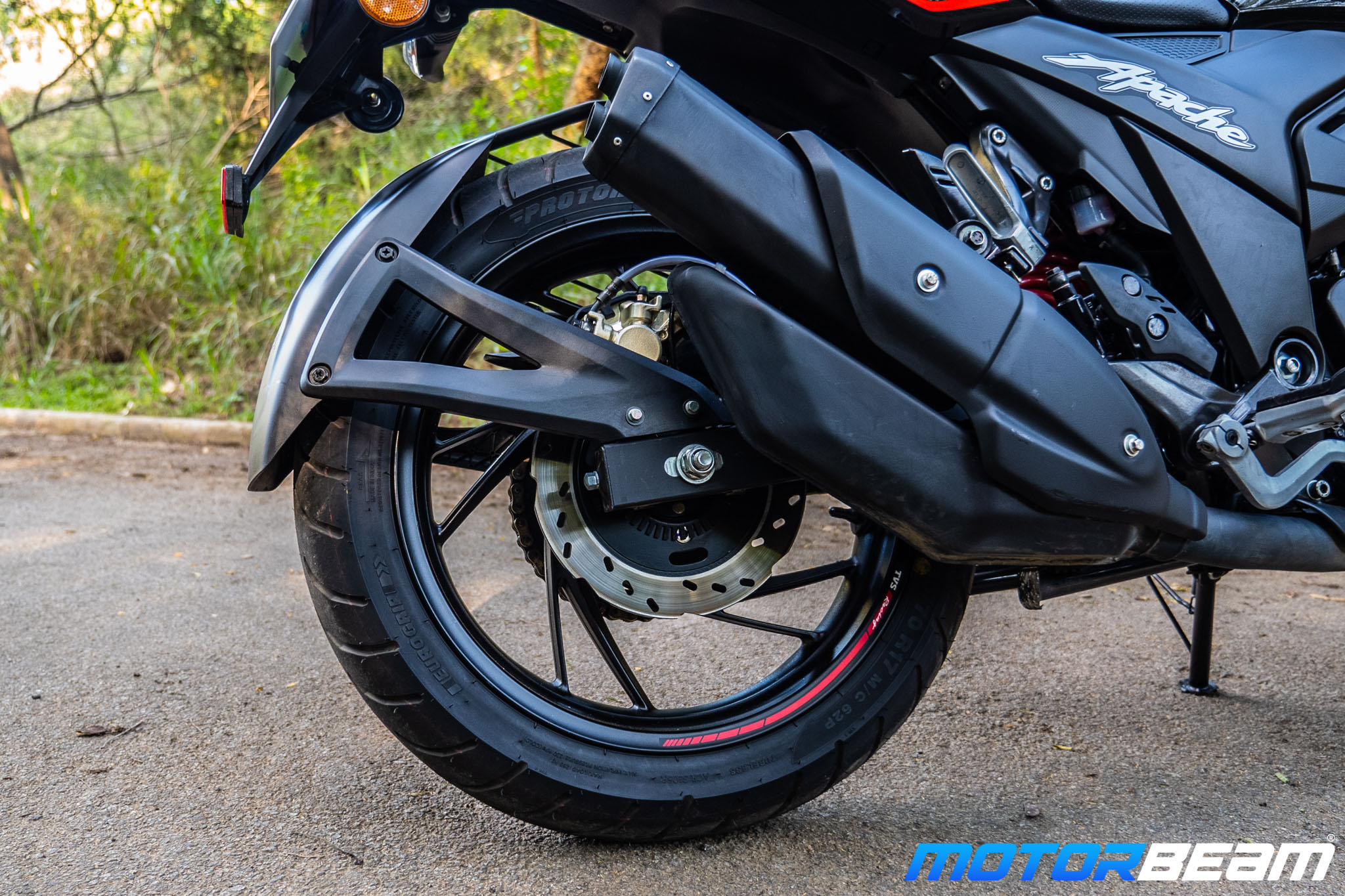 2020 TVS Apache 200 Review Exhaust