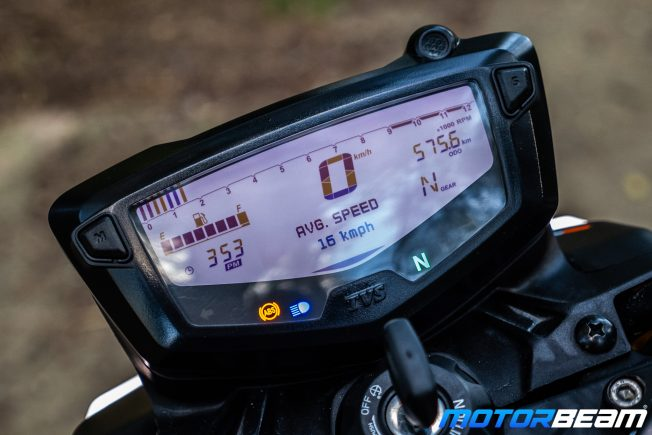 2020 TVS Apache 200 Review Instrument Cluster