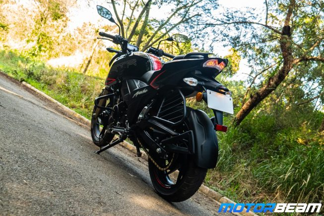2020 TVS Apache 200 Review Rear