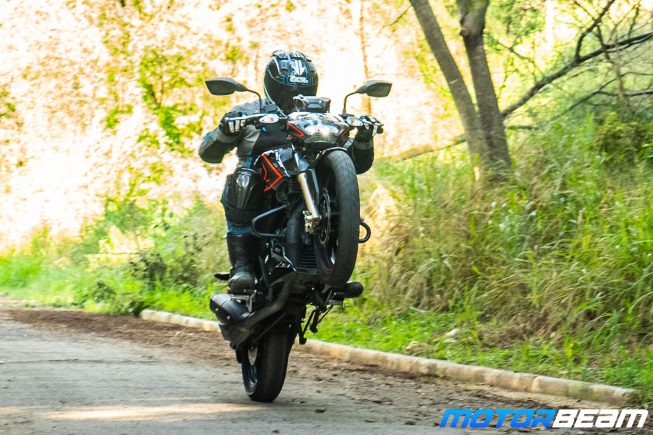 2020 TVS Apache 200 Review Wheelie