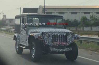 2020 Mahindra Thar Spied On Test