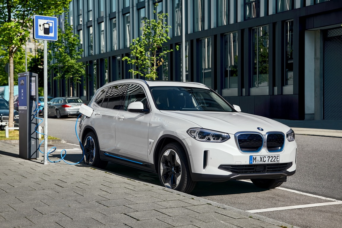Electric SUV with fast charger