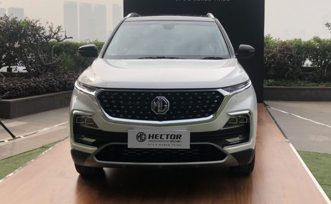 2021 MG Hector Facelift Front