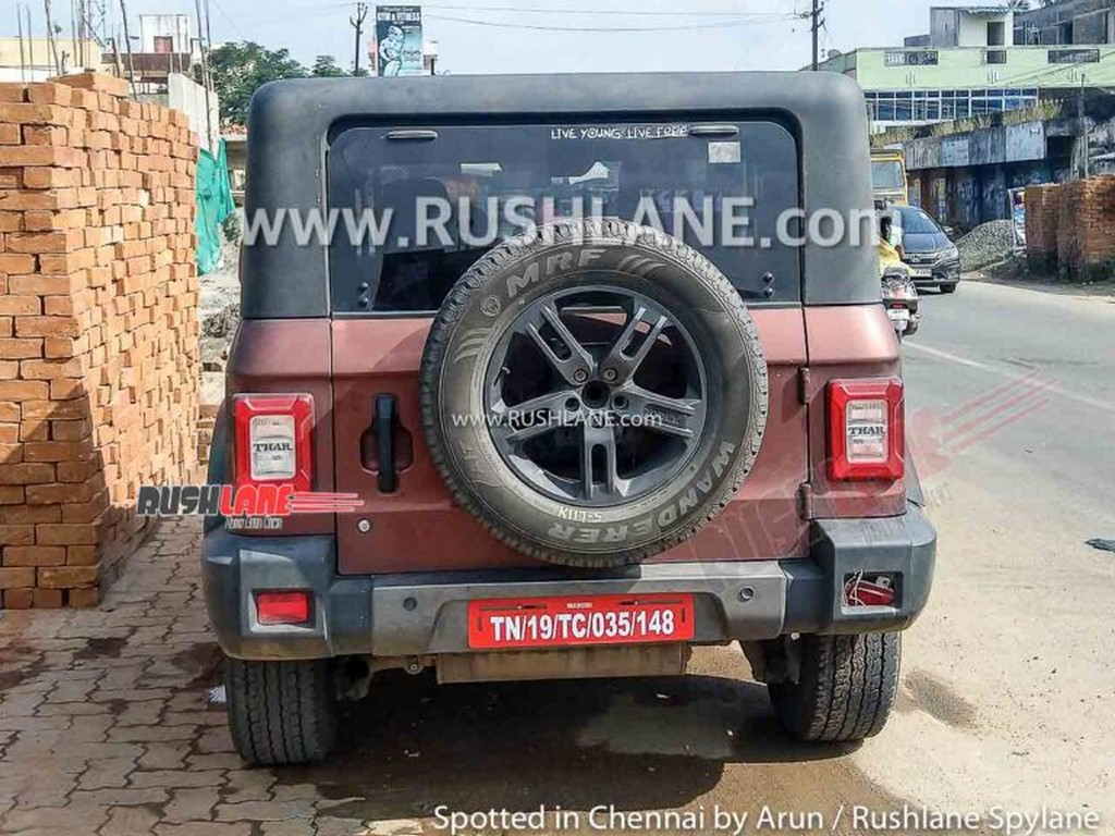 2021 Mahindra Thar Removable Hardtop Rear