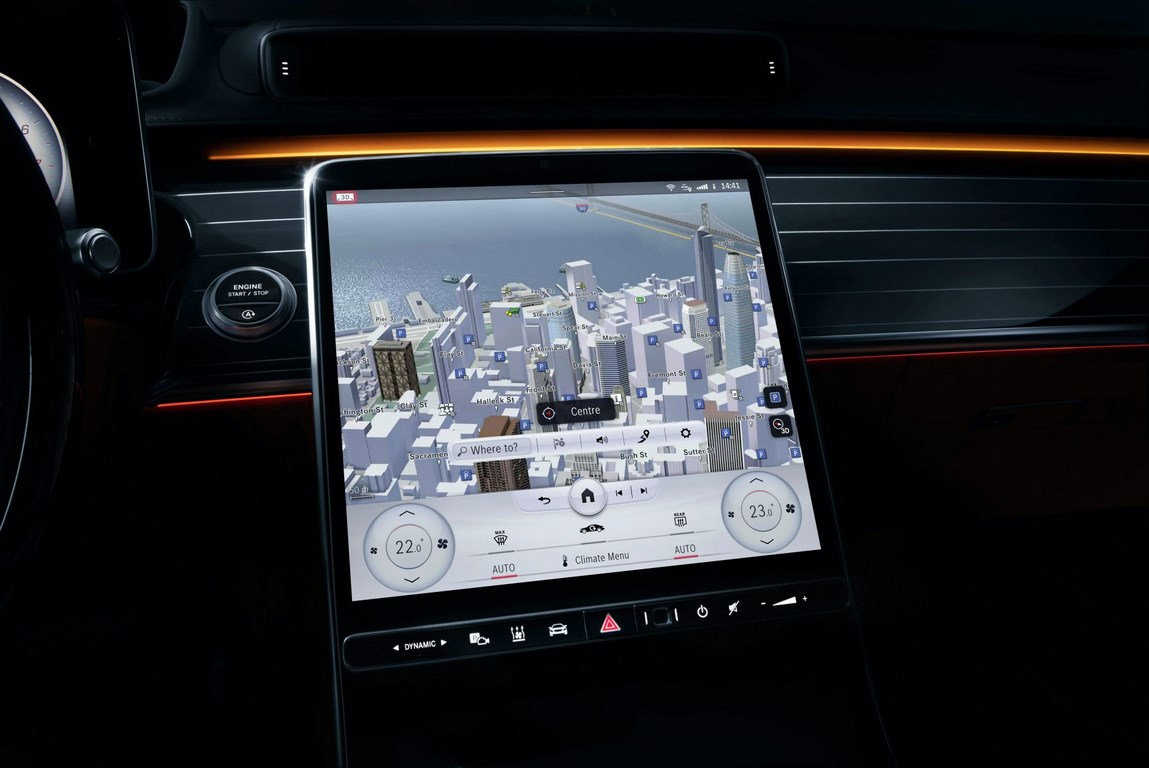 Mercedes S-Class' massive 12.8-inch touchscreen revealed