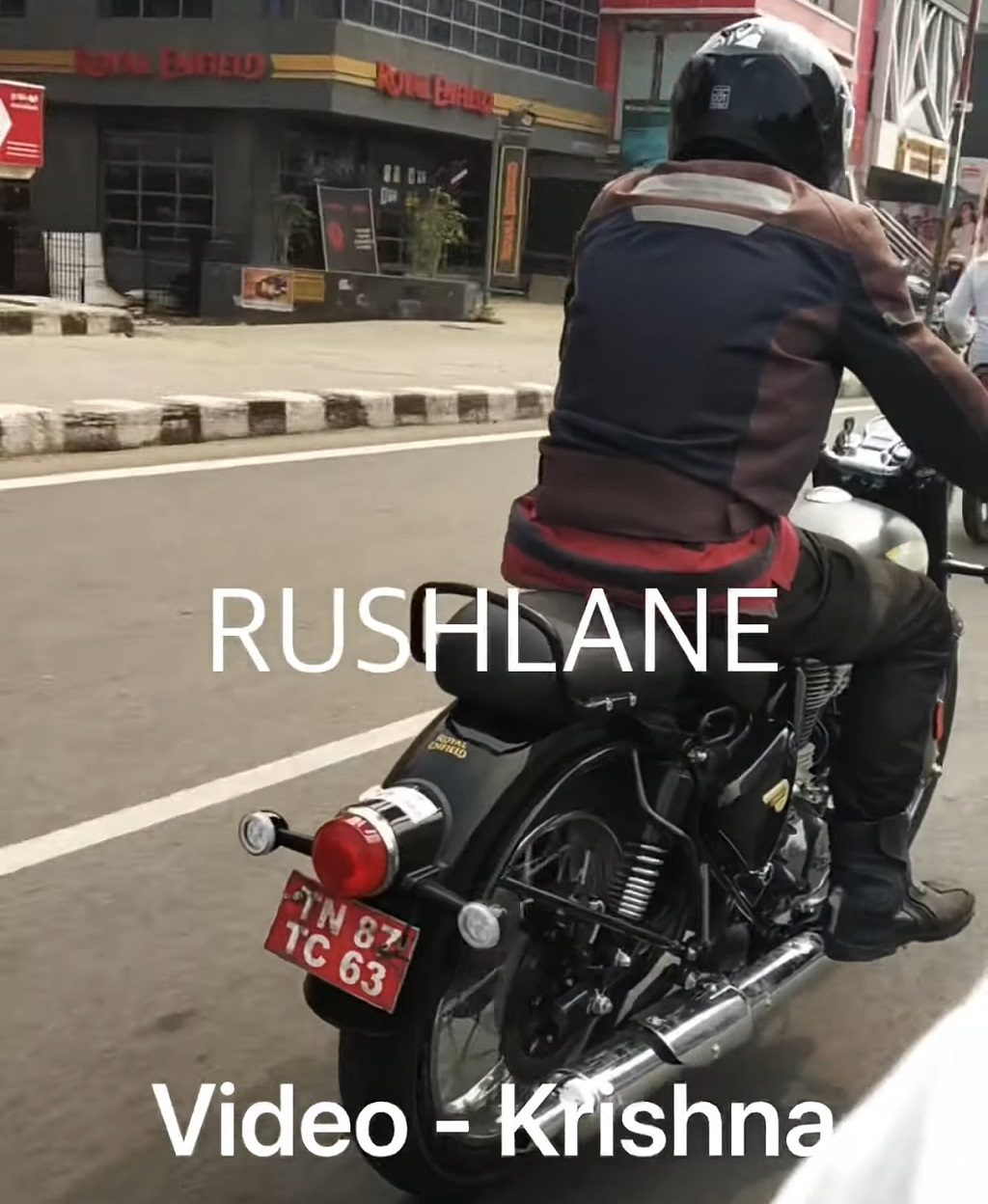 2021 Royal Enfield Classic 350 Spied Rear