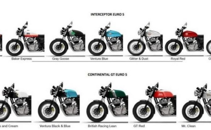 2021 Royal Enfield Interceptor 650 And Continental GT 650 Colours
