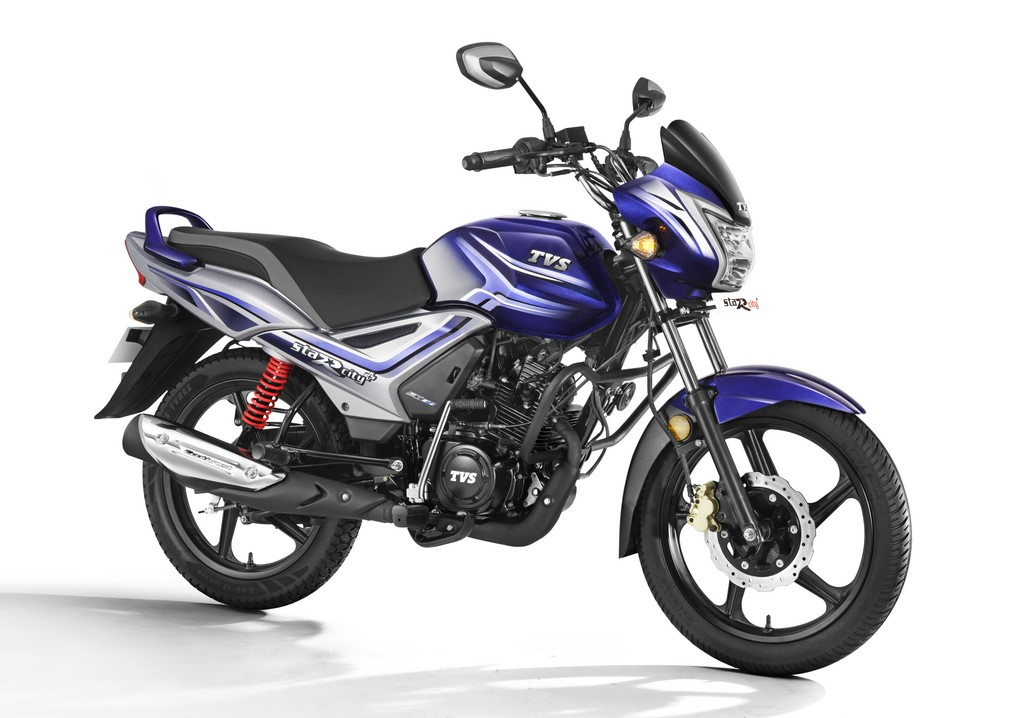 2021 TVS Star City+ Pearl Blue Silver Price