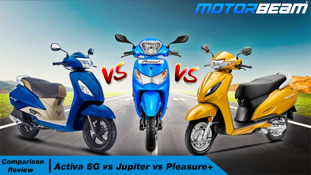 Activa 6G vs Jupiter vs Pleasure+
