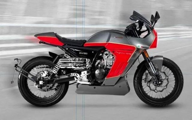 The exhaust pipes have a scrambler styling
