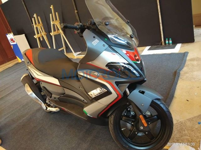 Aprilia SR Max 300 Side Spied In India