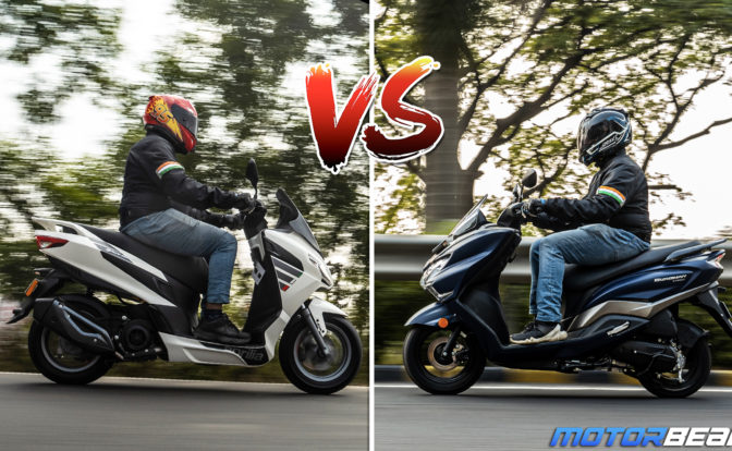 Aprilia SXR 160 vs Suzuki Burgman - Comparison Video