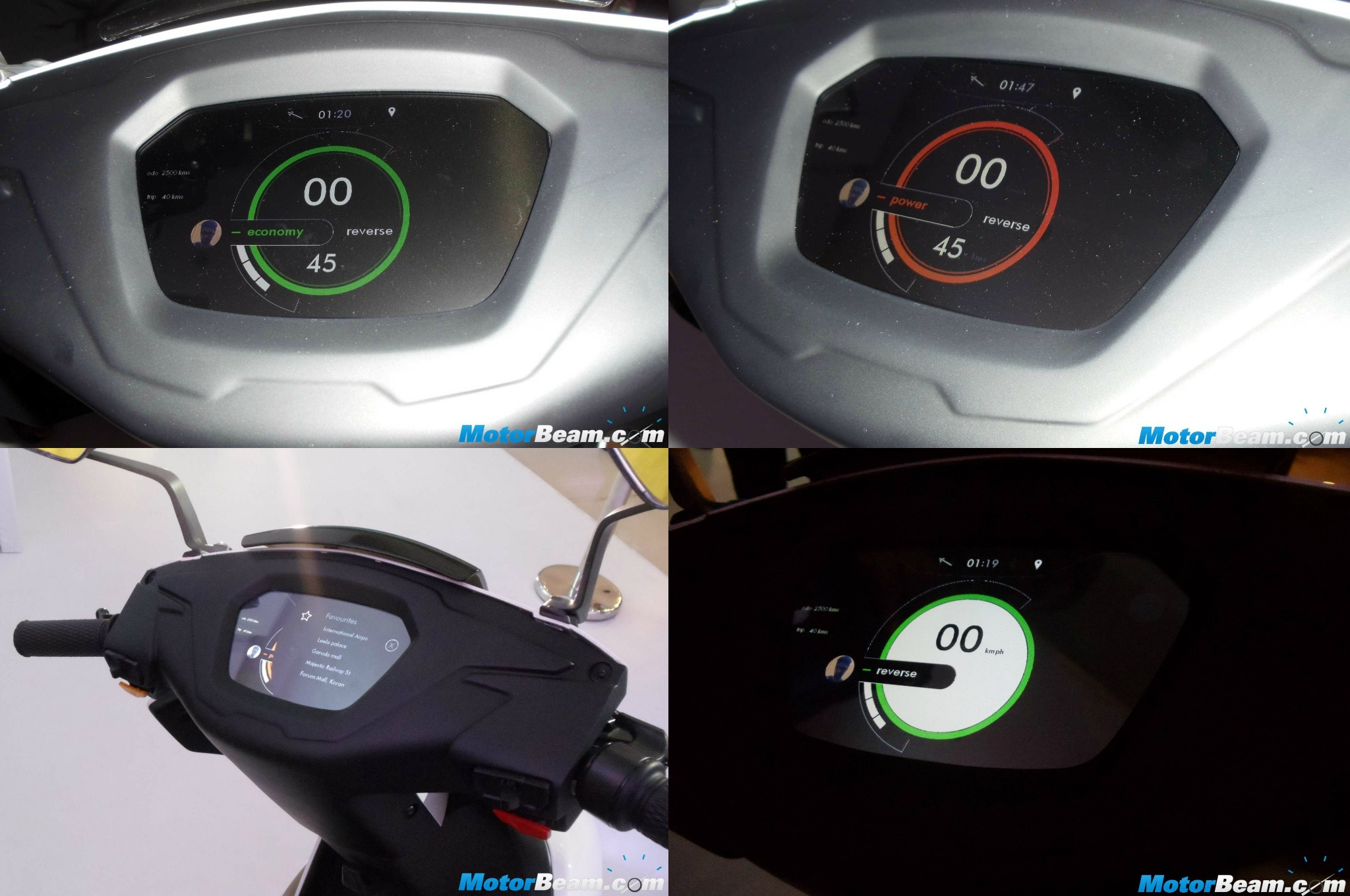 Ather S340 Dashboard