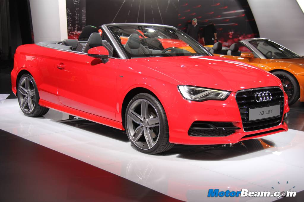 Audi A3 Cabriolet Showcased In India At 2014 Auto Expo