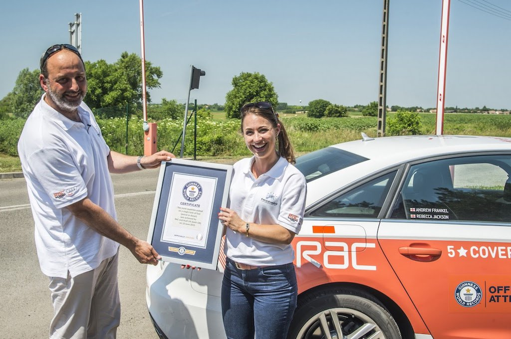 Audi A6 Ultra Diesel Guinness World Record