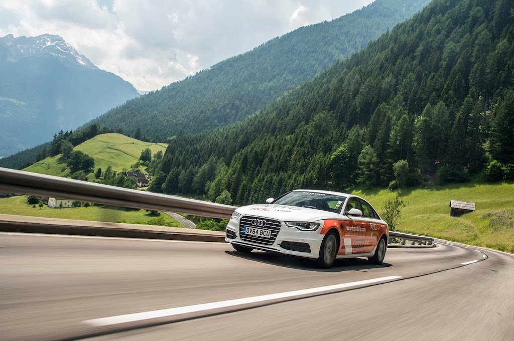 Audi A6 Ultra Record Road Trip