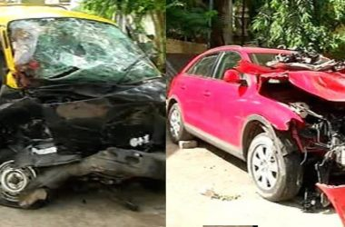 Audi Q3 Maruti Eeco Accident