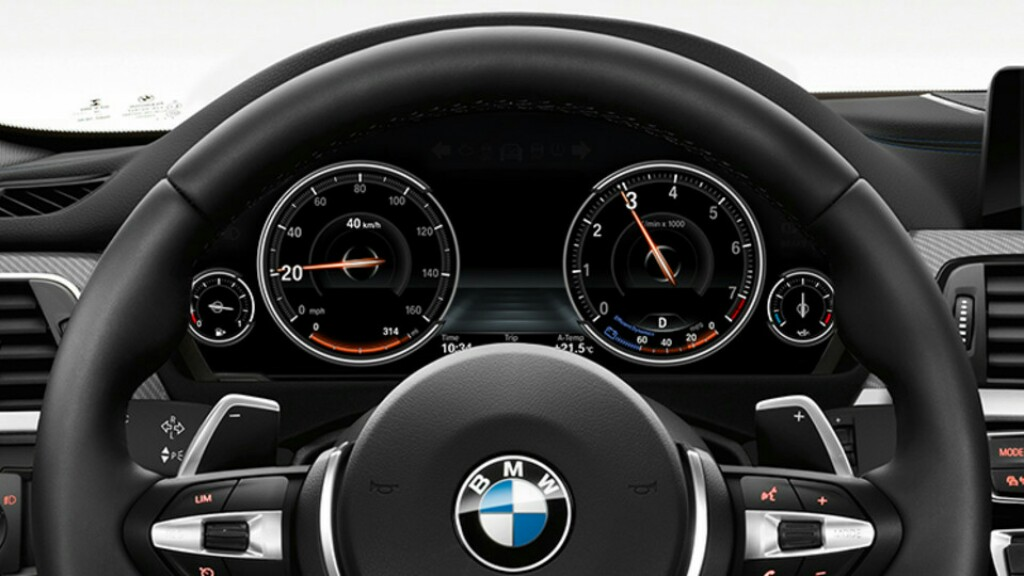 BMW 3-Series Shadow Edition Instrument Console