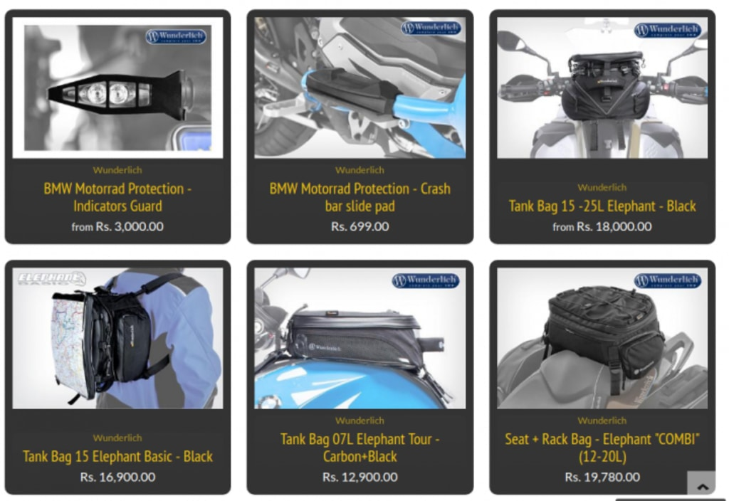 BMW G 310 GS Accessories Bags