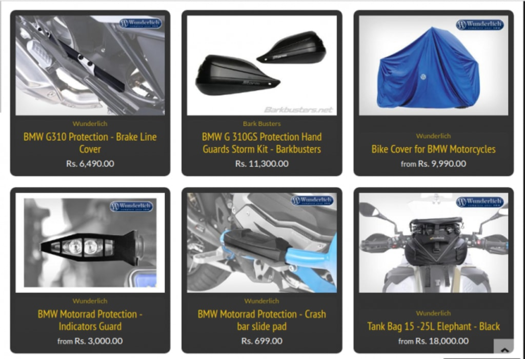 BMW G 310 GS Accessories Protection