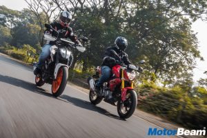 BMW G 310 R vs KTM Duke 390 Comparison Test