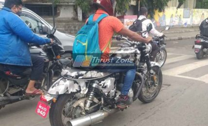 BSA 650cc Motorcycle Spied