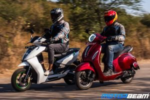 Bajaj Chetak vs Ather 450 - Shootout