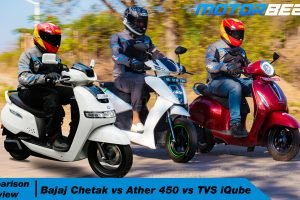 Bajaj Chetak vs Ather 450 vs TVS iQube Comparison Review