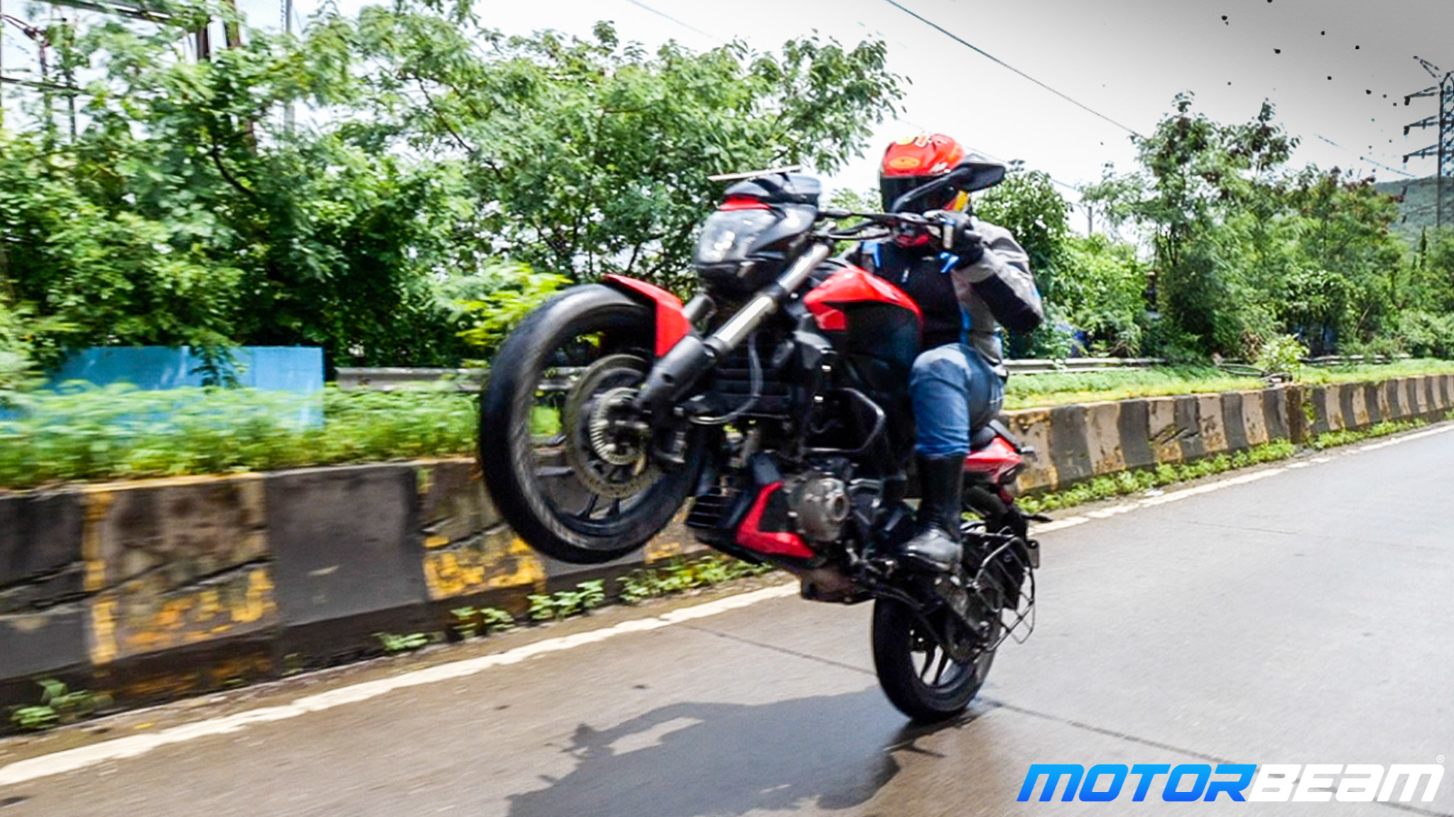 Bajaj Dominar 250 Review Wheelie