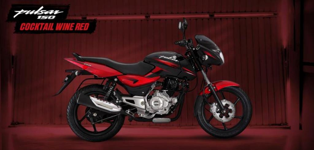 Bajaj Pulsar 150 Wine Red Colour