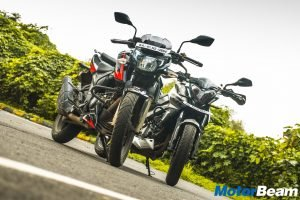 Bajaj Pulsar 200 NS vs TVS Apache 200 4V Comparison Review