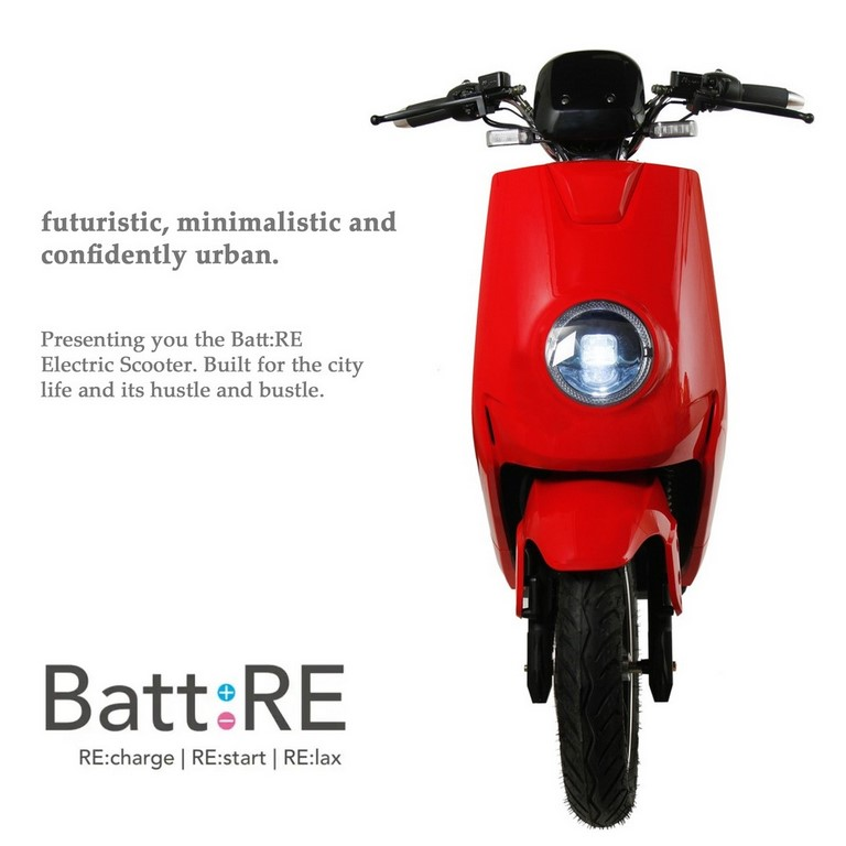 BattRE Electric Scooter Front