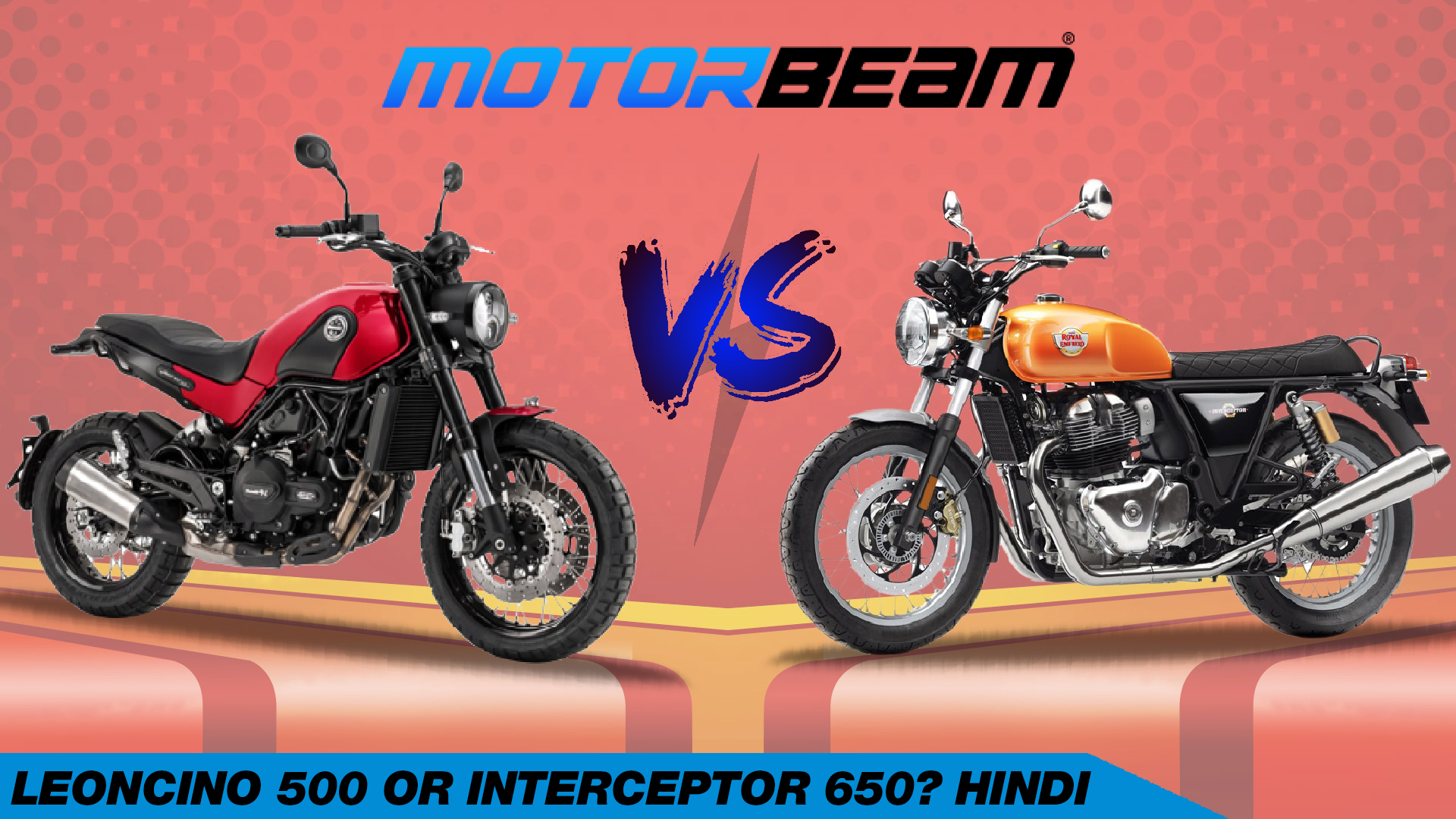 Benelli Leoncino 500 vs RE Interceptor 650 Hindi Video