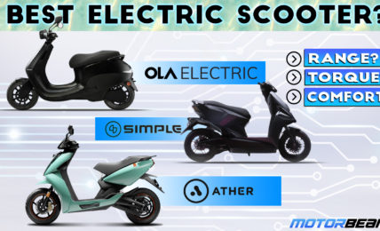 Best Electric Scooter - Ather 450X vs Ola S1 vs Simple Energy One