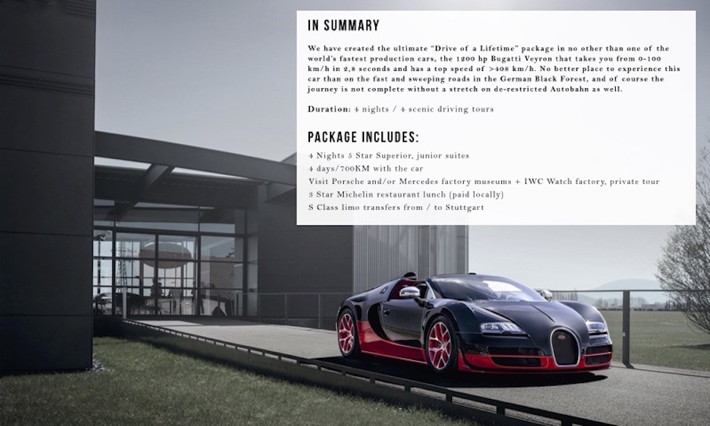 Bugatti Veyron Driving Tour Global Racing Schools