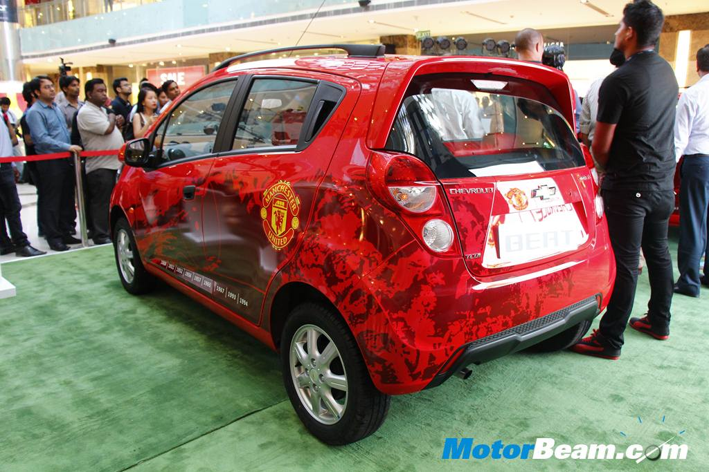 Chevrolet Beat ManU Edition Rear