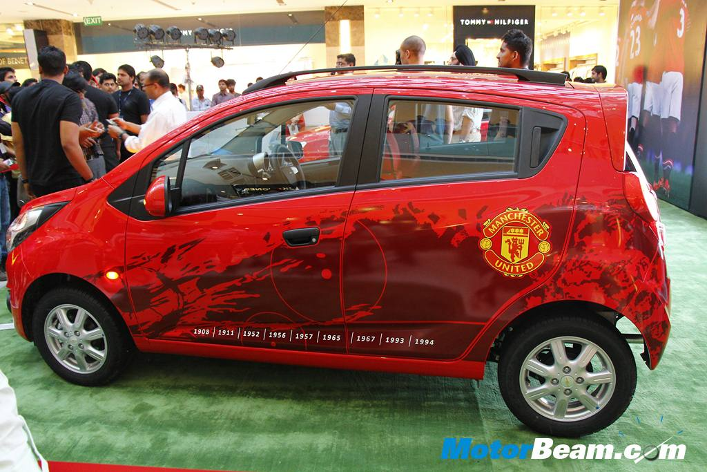 Chevrolet Beat ManU Edition Side