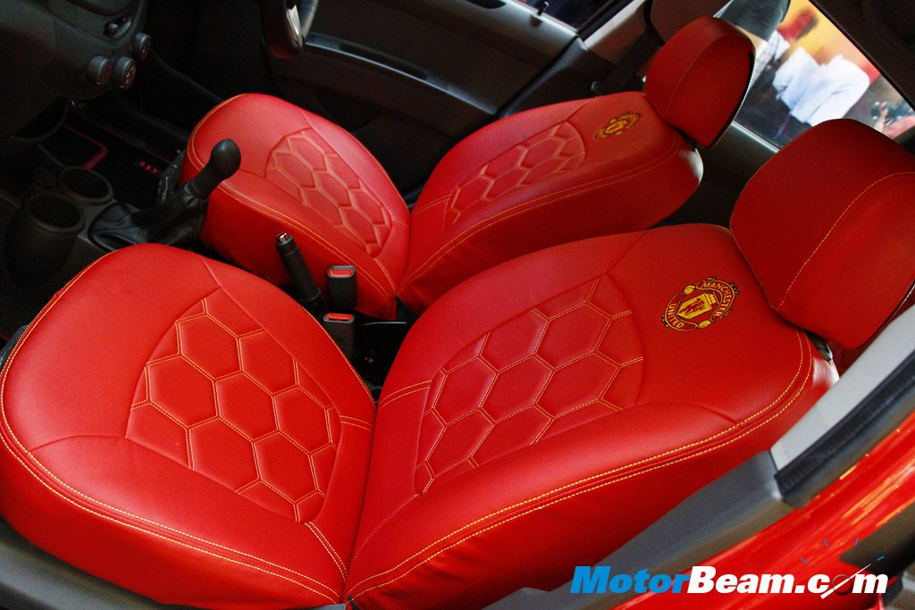 Chevrolet Beat ManU Edition Upholstery