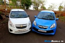 Chevrolet Beat vs Honda Brio Shootout
