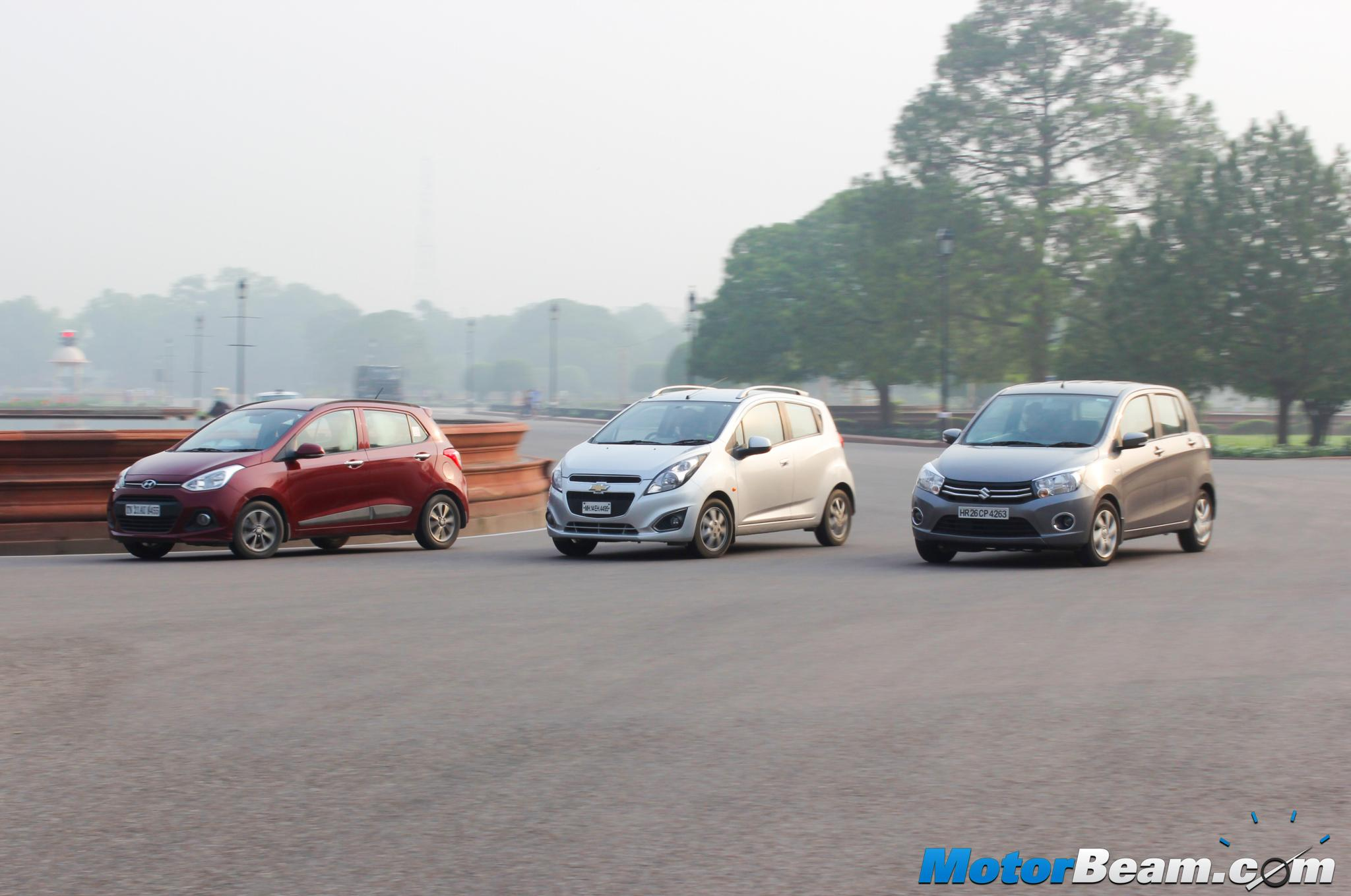 Chevrolet Beat Vs Tata Tiago Vs Maruti Celerio Vs Hyundai Grand